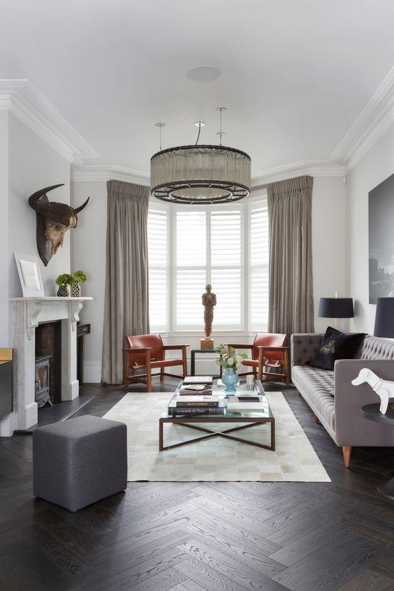 Living Room Lighting Ideas: Drum Shape Chandelier