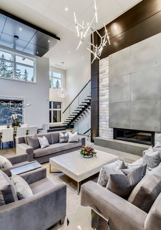 Living Room Luxury Ideas: Breathtaking Gray Room