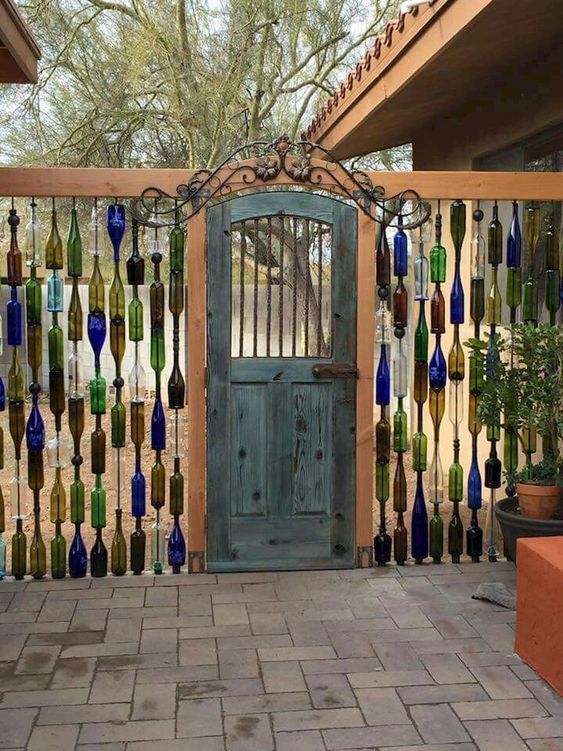 Privacy Fence: Unique Bottle Fence
