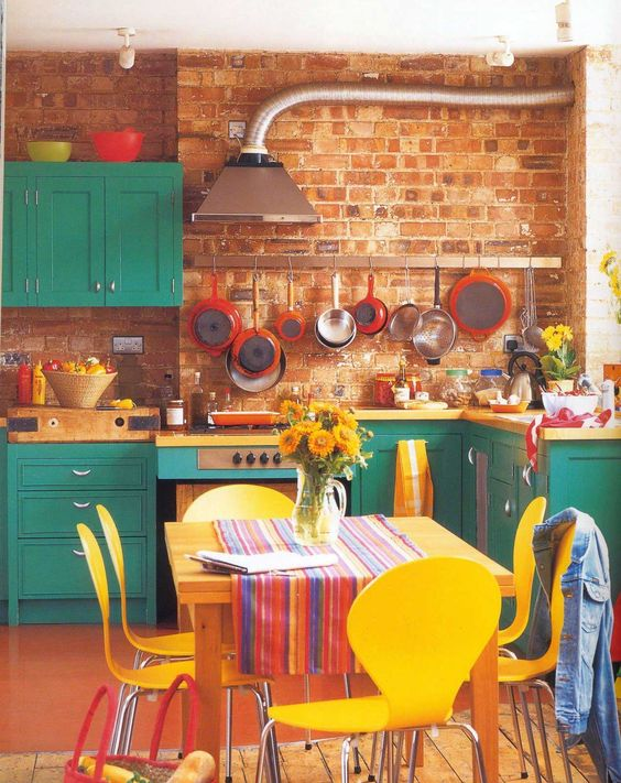 Retro Kitchen Ideas: Exciting Colorful Kitchen