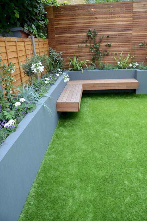 Backyard Decor Ideas: Simple Backyard Bench