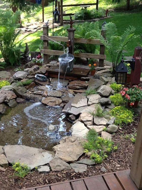 Backyard Decor Ideas: Fresh Natural Pond