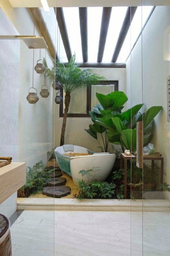 Bathroom Decor Ideas: Fresh Tropical Bathroom