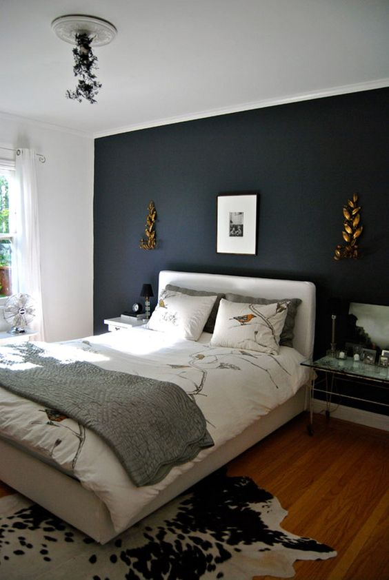 Dark Bedroom Ideas: Minimalist Dark Bedroom