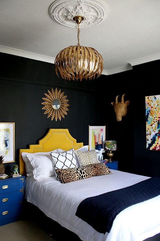 Dark Bedroom Ideas: Create Focal Point