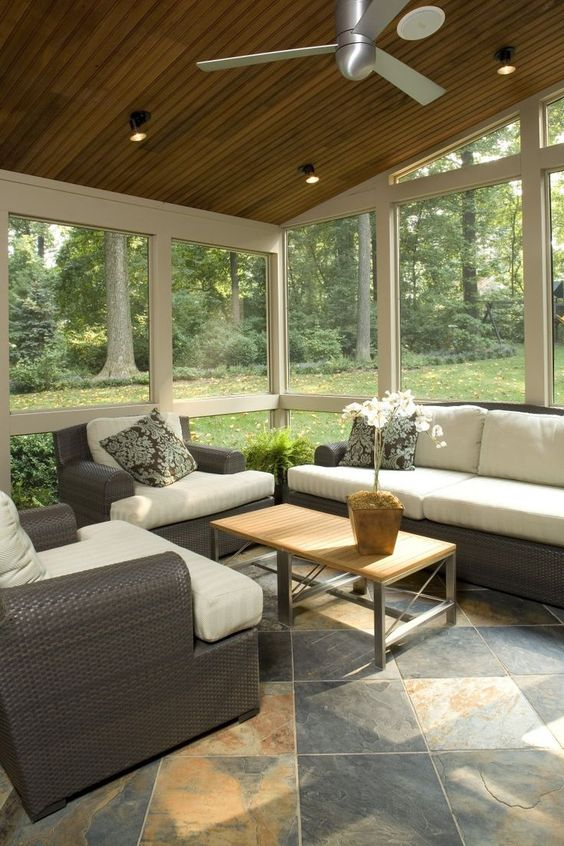 Enclosed Patio Ideas: Earthy Enclosed Patio