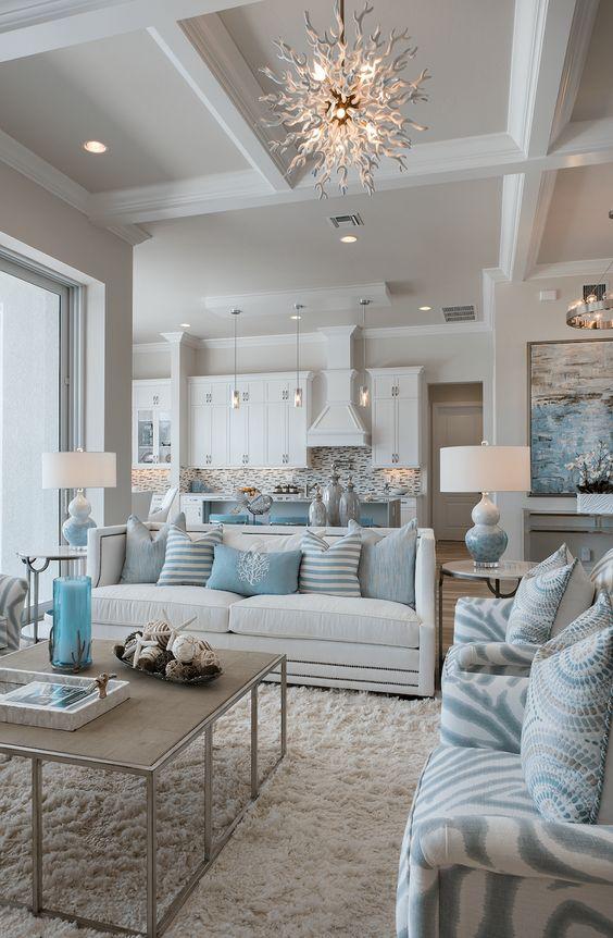 Living Room Decor Ideas: Airy Coastal Living Room