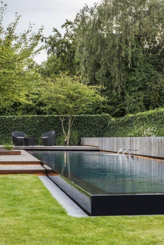 Modern Swimming Pool Ideas: Sleek Rectangular Pool