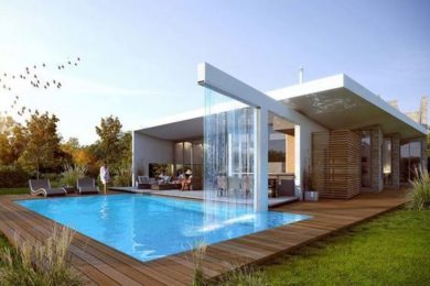 Trendy Modern Swimming Pool Ideas for Attractive Outdoor View