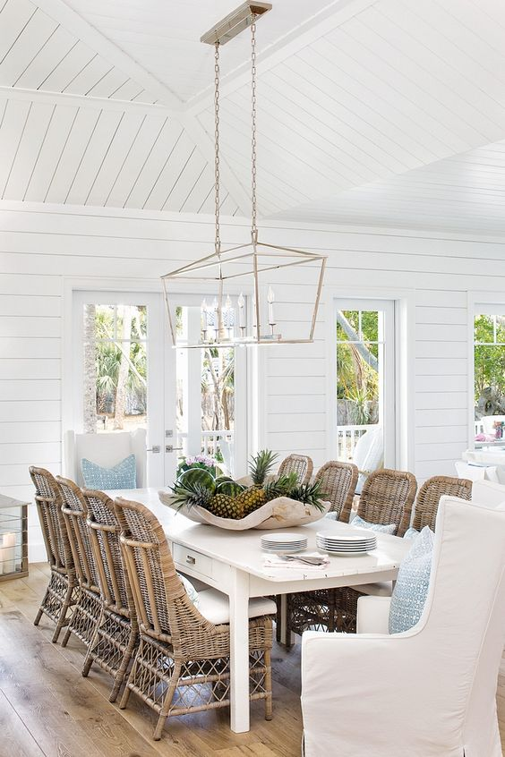 White Dining Room Ideas: Airy Cottage Concept