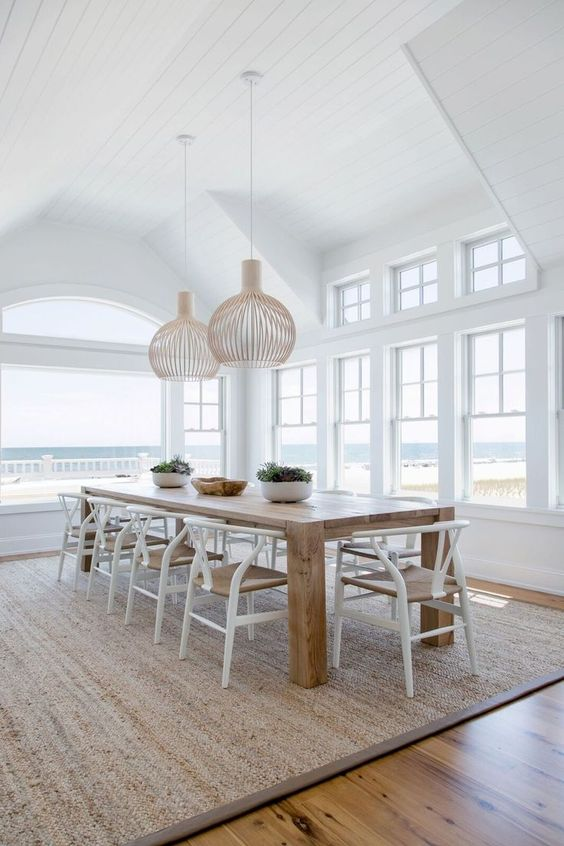 White Dining Room Ideas: Fresh Beachy Vibe