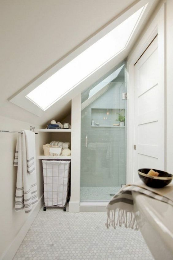 Bathroom Inspiration Ideas: Minimalist Attic Bathroom