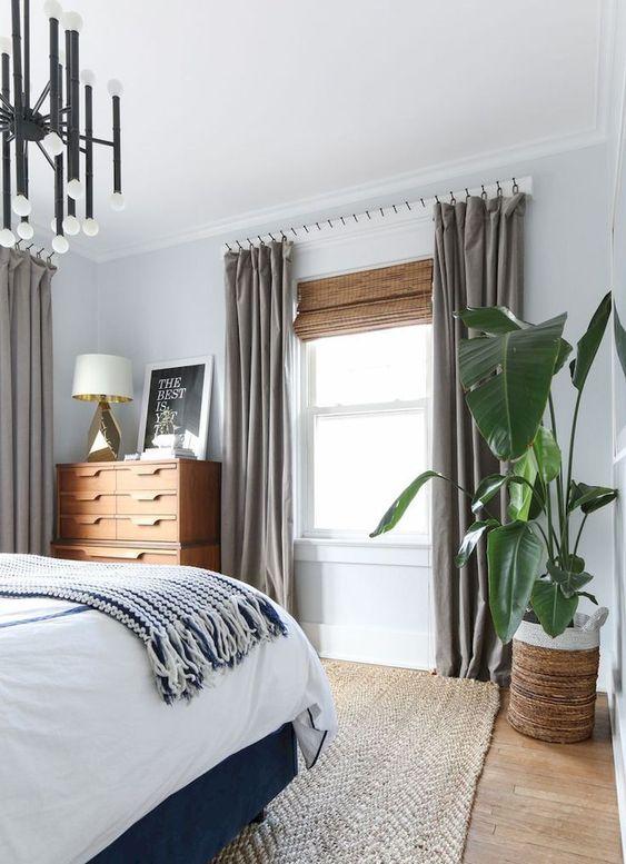 Bedroom Curtains Ideas: Minimalist Ripple Fold