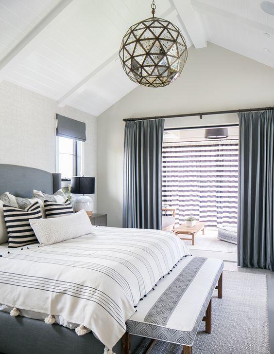 Bedroom Curtains Ideas: Tailored Pleat Curtain