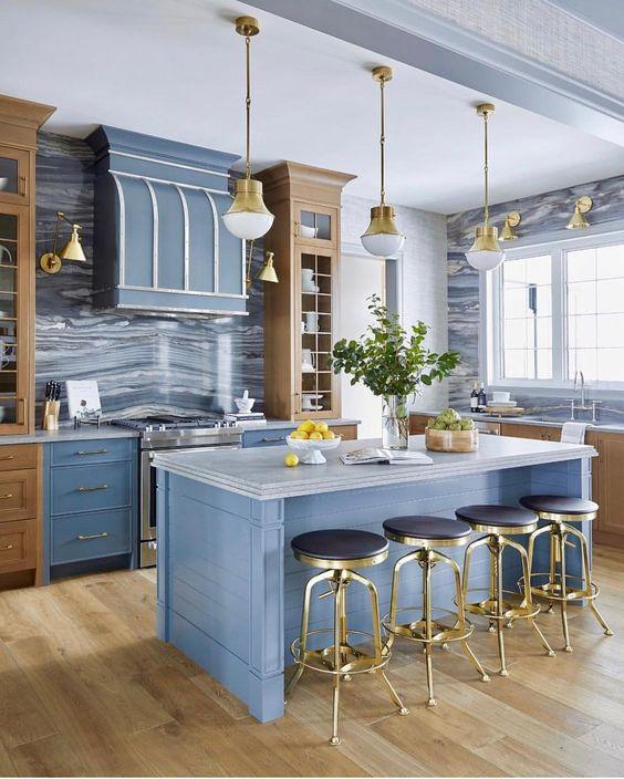 Blue Kitchen Ideas: Adorable Powder Blue
