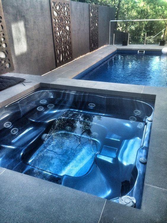 built in hot tub 11