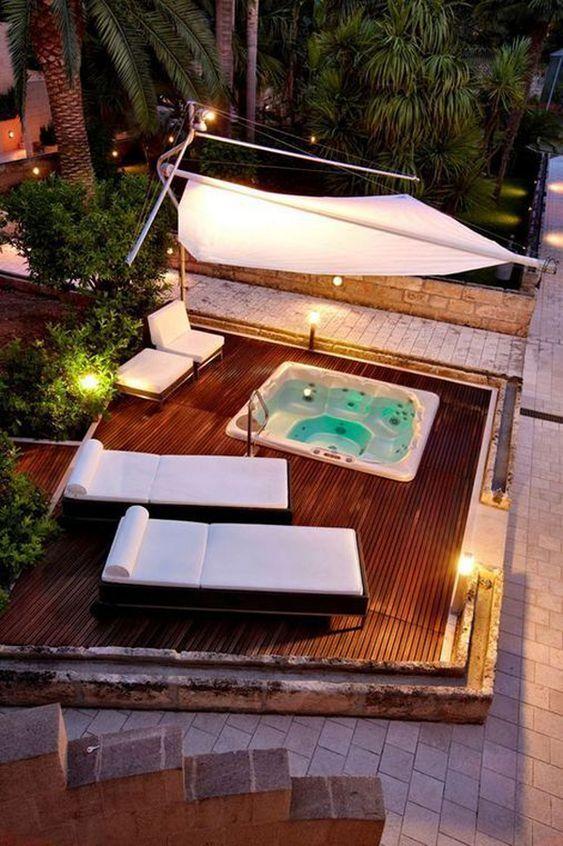 built in hot tub 17