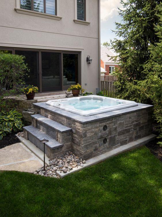 built in hot tub 5