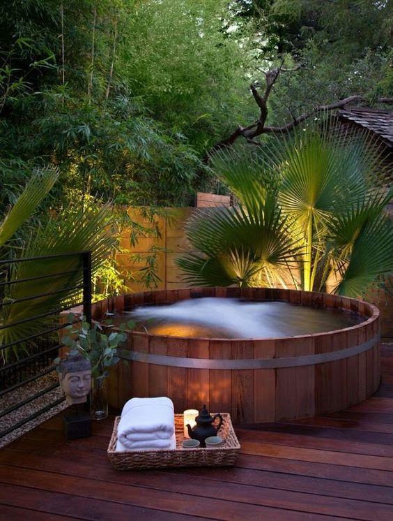 built in hot tub 7