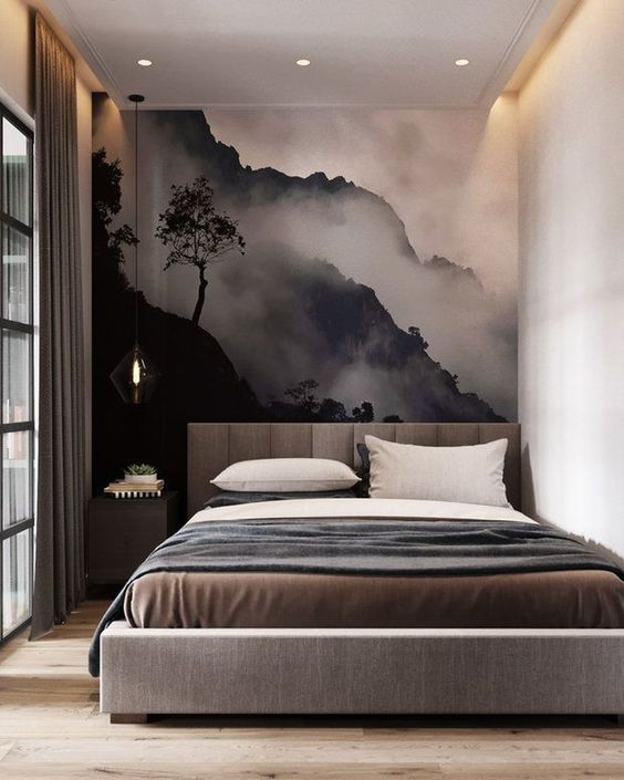 Contemporary Bedroom Ideas: Stunning Wall Decor