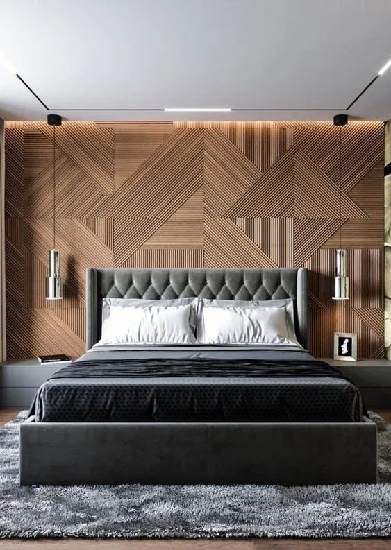 Contemporary Bedroom Ideas: Eye-Catching Wall Texture