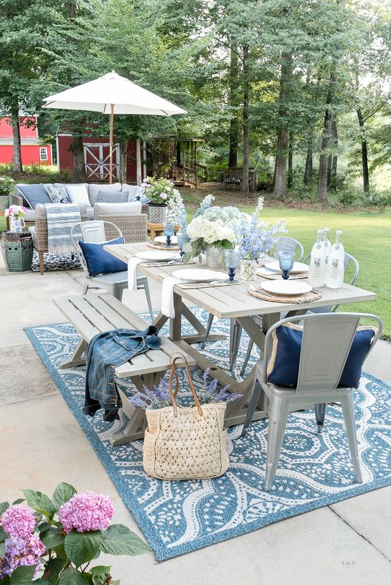 Rustic Dining Room Ideas: Lovely Rustic Farmhouse