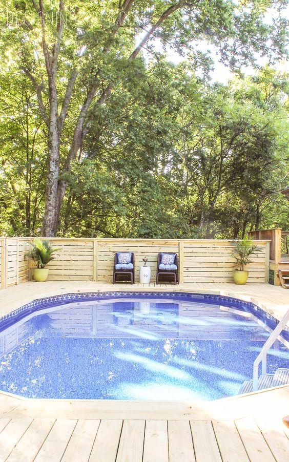 Swimming Pool Decks Ideas: Simple Cedar Deck