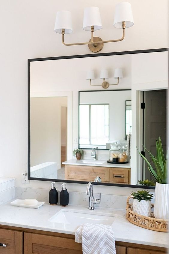 Bathroom Mirror Ideas: Modern Contemporary Bathroom