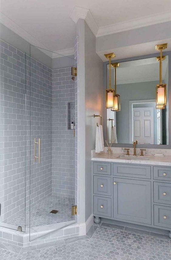 Bathroom Tile Ideas: Elegant Gray Design