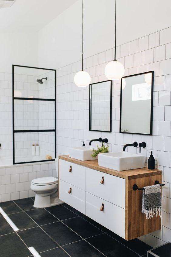 Bathroom Tile Ideas: Classic Rectangular Tiles