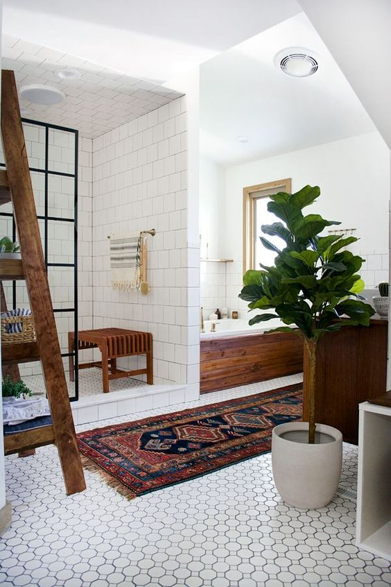 Bathroom Tile Ideas: Lovely-Shaped Tiles