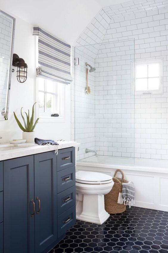 Bathroom Tile Ideas: Calming Farmhouse Nuance