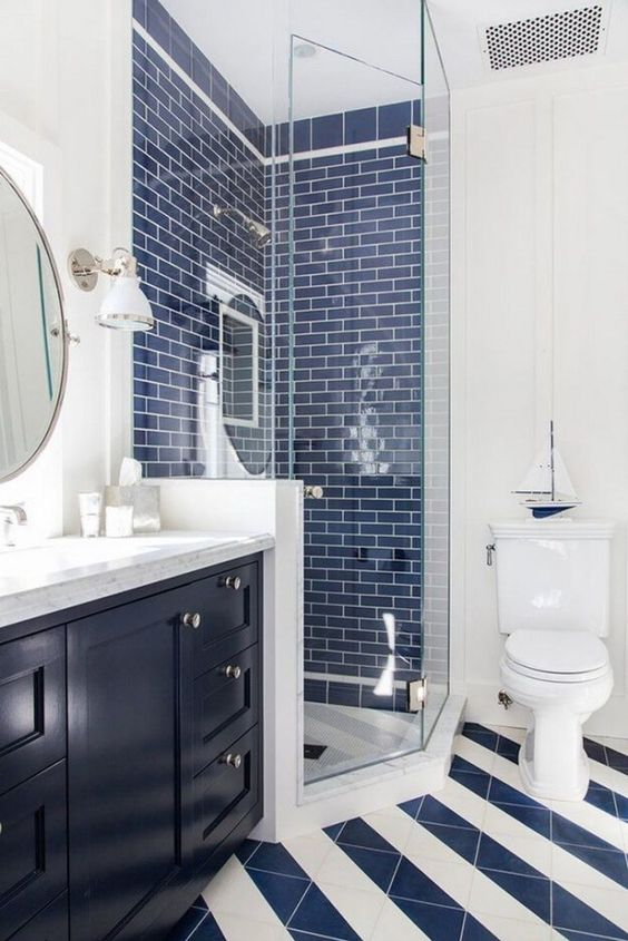 Bathroom Tile Ideas: Fresh Nautical Vibe