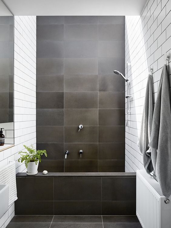 Bathroom Tile Ideas: Modern Black Tiles
