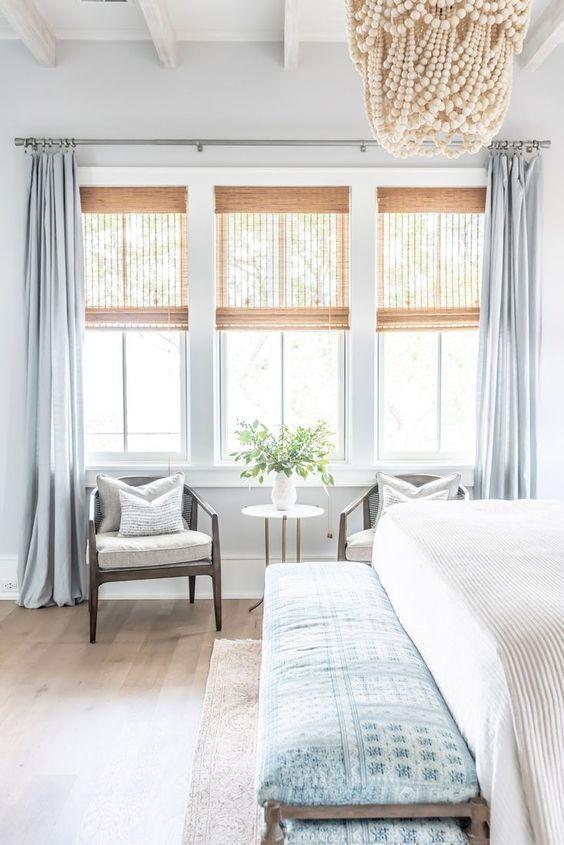 Beach Bedroom Ideas: Statement Beaded Chandelier