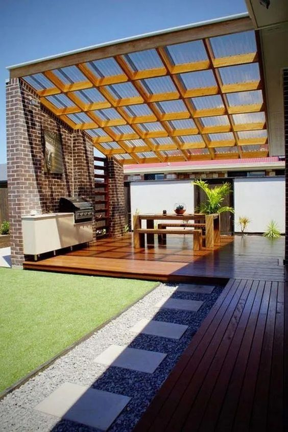 Covered Patio Ideas: Stunning Clear Ceiling