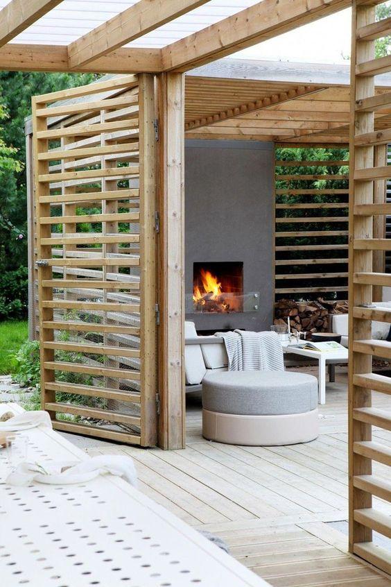 Covered Patio Ideas: Warm Neutral Shade