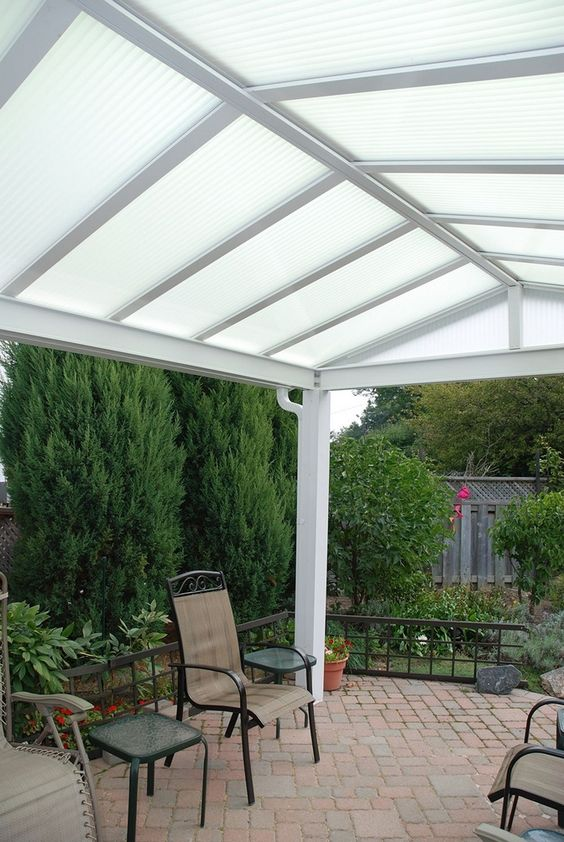 Covered Patio Ideas: Attractive All-White