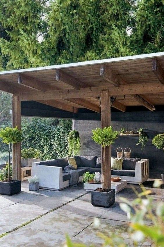 Covered Patio Ideas: Chic Earthy Bold