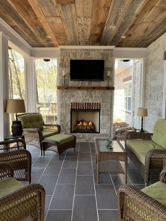 Covered Patio Ideas: Outstanding Rustic Vibe