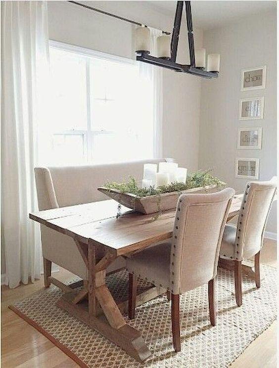 Dining Room Rug Ideas: Elegant Beige Feel