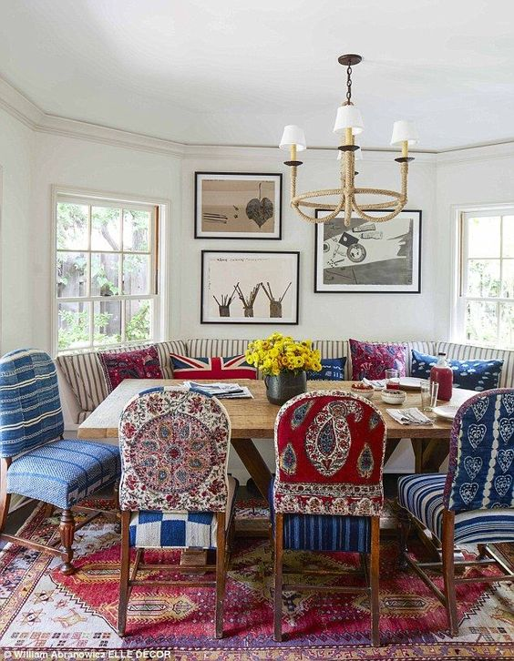 Eclectic Dining Room Ideas: Eye-Catching Patterns