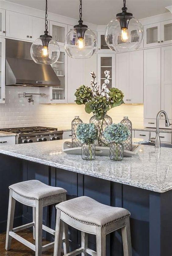 Kitchen Lighting Ideas: Crystal Pendants