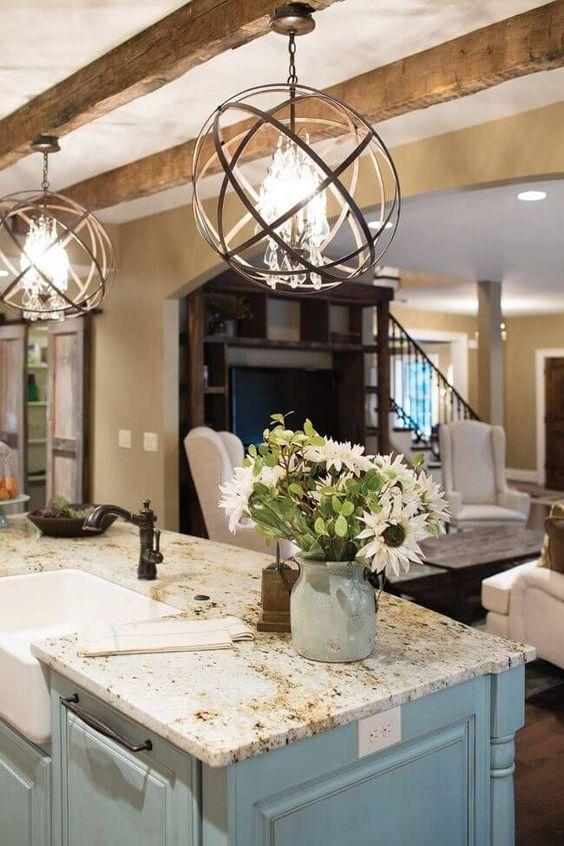 Kitchen Lighting Ideas: Farmhouse Globe Chandelier
