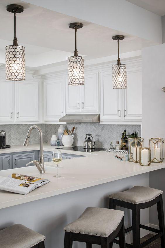 Kitchen Lighting Ideas: Shaded Pendants
