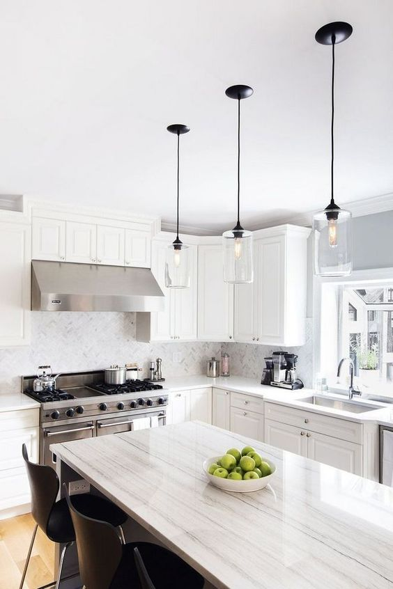 Kitchen Lighting Ideas: Chic Minimalist Pendants