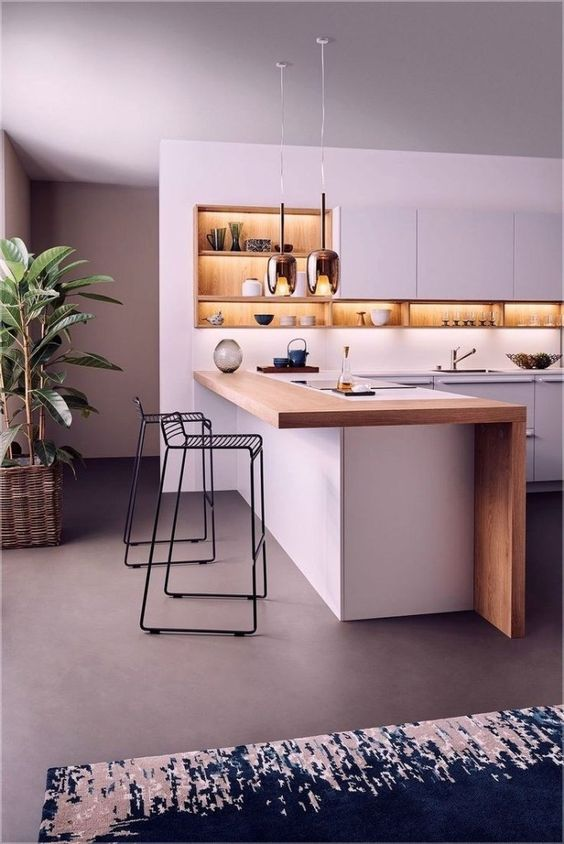 Kitchen Lighting Ideas: Contemporary Gold Pendants