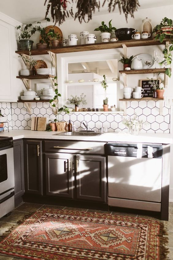 Kitchen Shelves Ideas: Stunning Kitchen Set