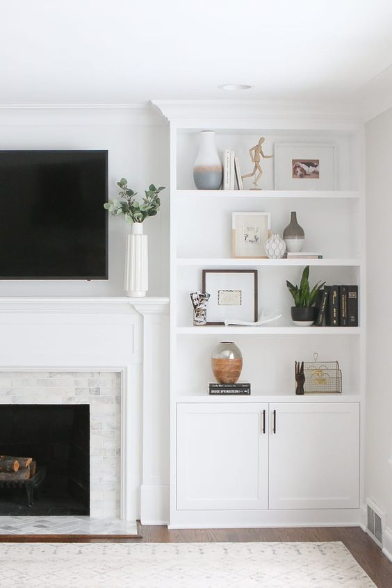 Living Room Shelves Ideas 11