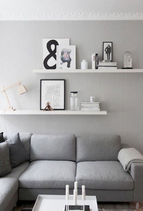 Living Room Shelves Ideas 15